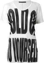 Haider Ackermann Silence T-shirt - women - Cotton/Nylon/Viscose - S