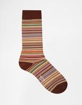 Paul Smith Multistripe Socks - Orange