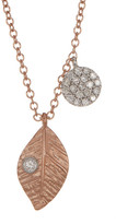 Meira T 14K Two-Tone Gold Diamond Leaf Necklace - 0.14 ctw