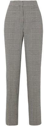 Erdem Emanuelle Prince Of Wales Checked Silk-blend Straight-leg Pants