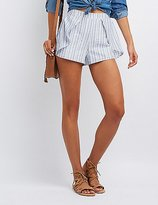 Charlotte Russe Striped Tulip Shorts