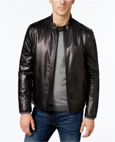 Calvin Klein Men's Leather Moto Jacket, a Macy's Exclusive Style