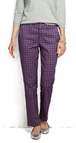 Lands' End Women's Petite Pre-hemmed Mid Rise Straight Leg Chino Pants-Charcoal Glen Plaid