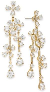 Eliot Danori Crystal Flower Drop Earrings, Created for Macy's