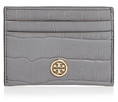 Tory Burch Robinson Embossed Leather Card Case