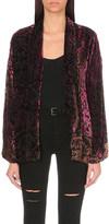 The Kooples Baroque velvet kimono jacket