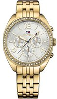 Tommy Hilfiger 1781573 Gold-Tone Ladies Watch - Silver Dial