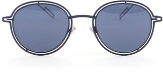 Christian Dior Homme Round Sunglasses Metal