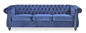 Christopher Knight Home Parksley Tufted Velvet Chesterfield Sofa