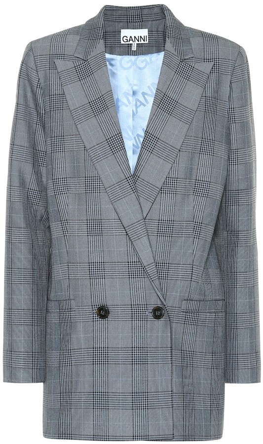 Ganni Checked blazer