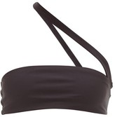 JADE SWIM Halo One-shoulder Jersey Bikini Top - Womens - Black