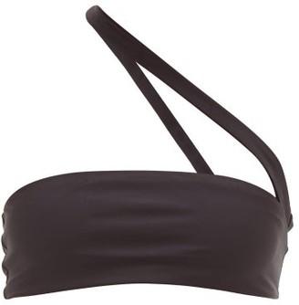 JADE SWIM Halo One-shoulder Bikini Top - Black