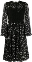 Dolce & Gabbana Polka Dot Print Midi Dress