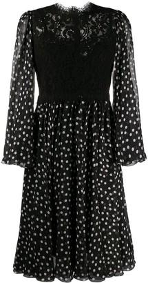 Dolce & Gabbana Polka Dot Print Midi Dress