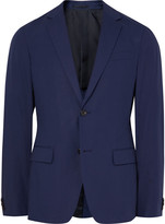 Theory Blue Rodolf Slim-Fit Stretch-Cotton Blazer