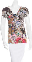 Etro Floral Print Draped Top