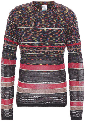 M Missoni Pointelle-trimmed Metallic Wool-blend Sweater