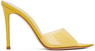 Gianvito Rossi Yellow Patent Elle 105 Heeled Sandals