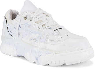 Maison Margiela Fusion Low Top in White Mix | FWRD