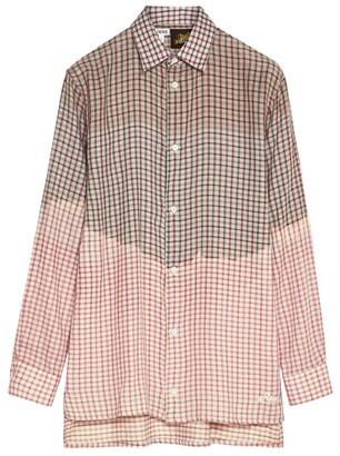 Loewe x Paula's Ibiza Check Tie-Dye Shirt