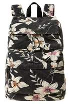 O'Neill Starboard Floral Print Canvas Backpack - Black