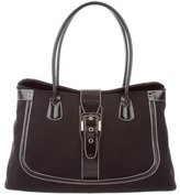 Tod's Leather-Trimmed Dome Satchel