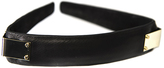 Colette Malouf Leather Maneframe Headband