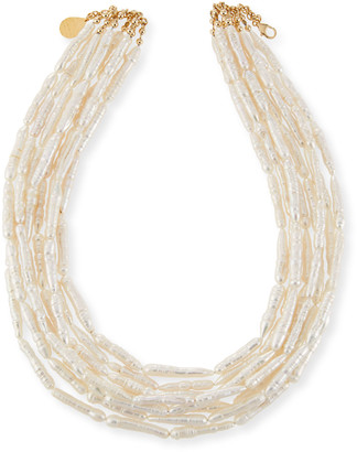 Devon Leigh Freshwater Pearl Branch Multi-Strand Necklace