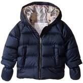 Burberry Rilla Puffy Checked Hood Jacket Boy's Coat