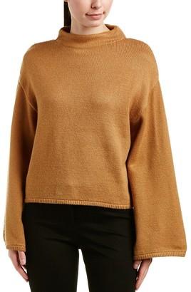 Anne Klein Women's Wide Sleeve Mock Neck Sweater