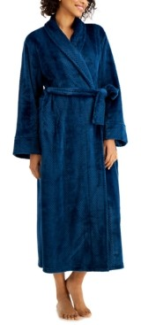 Charter Club Long Stripe Textured Cozy Robe, Created for Macy's