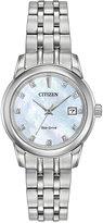 Citizen Women's Eco-Drive Diamond Accent Stainless Steel Bracelet Watch 28mm EW2390-50D