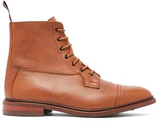 Tricker's Calvert Scotch-grain Leather Derby Boots - Mens - Tan