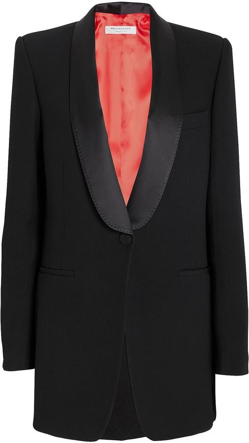 Philosophy di Lorenzo Serafini Shawl Collar Suiting Blazer