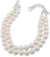Carolee Silver-Tone Imitation Pearl Adjustable Collar Necklace