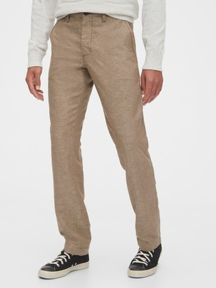 Gap Linen Khakis in Straight Fit