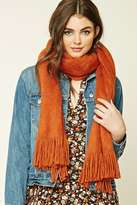 Forever 21 FOREVER 21+ Fuzzy Knit Oblong Scarf