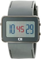 01 The One 01TheOne Unisex IPLD1118-3GY IP Light Digital IPLD Series Watch