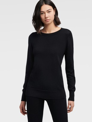 DKNY Luxe Crewneck Pullover