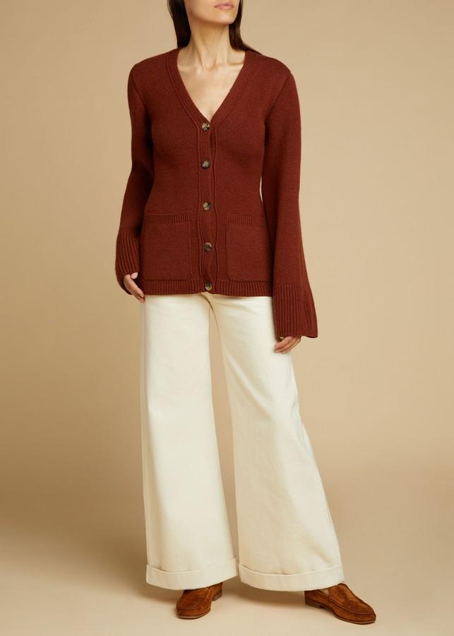 KHAITE The Noelle Jean in Ivory