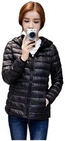 Ilishop Women's Short Packable Hooded Down Jacket