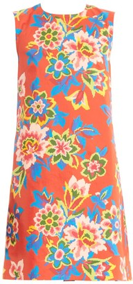 Carolina Herrera Sleeveless Floral Shift Dress