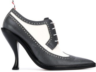 Thom Browne Longwing Spectator brogue 105mm pumps