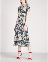 Temperley London Love Potion crepe midi dress