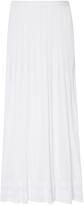 Oscar de la Renta Tea Length Pleated Skirt