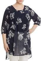 Junarose Sheer Floral-Print Tunic