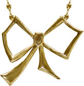 Dominique Cohen FINE JEWELRY dom by Gold-Tone Bow Pendant Necklace