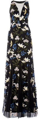 Adrianna Papell Floral Print Gown