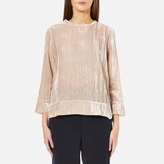 Samsoe & Samsoe Women's Christy Velour Top Pink Tint