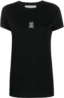 Frankie Morello embroidered scarab T-shirt